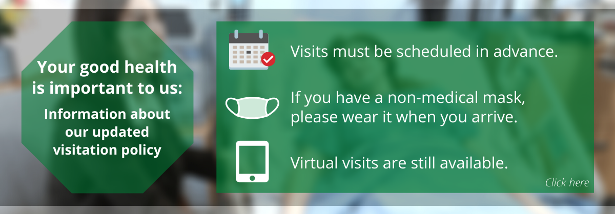 Restricted Visiting Hours (COVID) - Click here