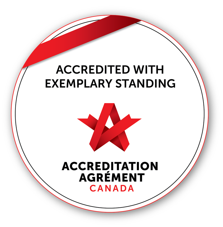 Accredited with exemplary standing logo
